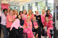 Breast Cantre fundraiser at Wella Centre of Excellance