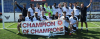 Boreham Wood FC under 19s celebrate their 'champion of champions' title