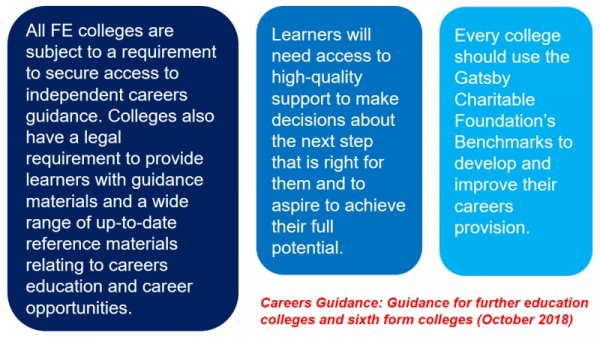 Statements from Careers Guidance for further education and sixth form colleges (2018)